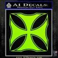 Iron Cross Decal Celtic Sticker D2 Lime Green Vinyl 120x120