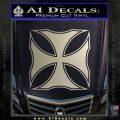 Iron Cross Decal Celtic Sticker D2 Metallic Silver Emblem 120x120