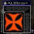 Iron Cross Decal Celtic Sticker D2 Orange Emblem 120x120
