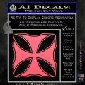 Iron Cross Decal Celtic Sticker D2 Pink Emblem 120x120