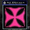 Iron Cross Decal Celtic Sticker D2 Pink Hot Vinyl 120x120