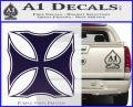 Iron Cross Decal Celtic Sticker D2 PurpleEmblem Logo 120x97