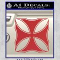 Iron Cross Decal Celtic Sticker D2 Red 120x120