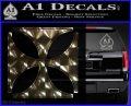 Iron Cross Decal Celtic Sticker D4 3DChrome Vinyl 120x97