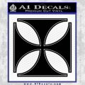 Iron Cross Decal Celtic Sticker D4 Black Vinyl 120x120