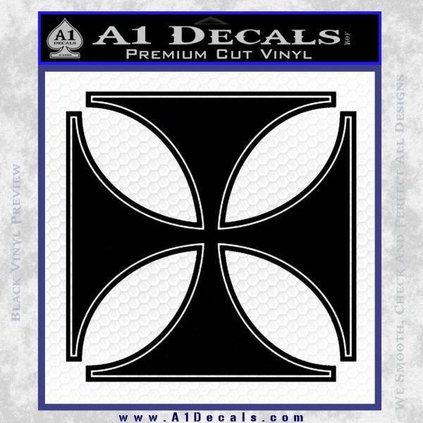 Iron Cross Decal Celtic Sticker D4 Black Vinyl