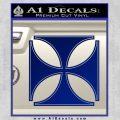 Iron Cross Decal Celtic Sticker D4 Blue Vinyl 120x120
