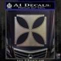 Iron Cross Decal Celtic Sticker D4 Carbon FIber Chrome Vinyl 120x120