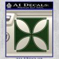 Iron Cross Decal Celtic Sticker D4 Dark Green Vinyl 120x120