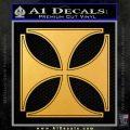 Iron Cross Decal Celtic Sticker D4 Gold Vinyl 120x120