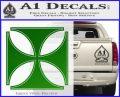 Iron Cross Decal Celtic Sticker D4 Green Vinyl Logo 120x97