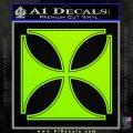 Iron Cross Decal Celtic Sticker D4 Lime Green Vinyl 120x120