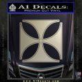 Iron Cross Decal Celtic Sticker D4 Metallic Silver Emblem 120x120