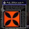 Iron Cross Decal Celtic Sticker D4 Orange Emblem 120x120
