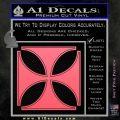 Iron Cross Decal Celtic Sticker D4 Pink Emblem 120x120