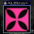 Iron Cross Decal Celtic Sticker D4 Pink Hot Vinyl 120x120