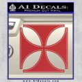 Iron Cross Decal Celtic Sticker D4 Red 120x120
