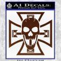 Iron Cross Motor Head Skull Decal Sticker BROWN Vinyl 120x120
