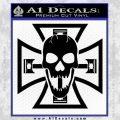 Iron Cross Motor Head Skull Decal Sticker Black Vinyl 120x120