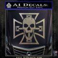 Iron Cross Motor Head Skull Decal Sticker Carbon FIber Chrome Vinyl 120x120