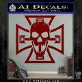 Iron Cross Motor Head Skull Decal Sticker DRD Vinyl 120x120