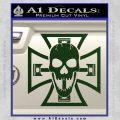 Iron Cross Motor Head Skull Decal Sticker Dark Green Vinyl 120x120