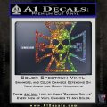 Iron Cross Motor Head Skull Decal Sticker Glitter Sparkle 120x120