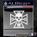 Iron Cross Motor Head Skull Decal Sticker Gloss White Vinyl 120x120