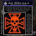 Iron Cross Motor Head Skull Decal Sticker Orange Emblem 120x120