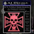 Iron Cross Motor Head Skull Decal Sticker Pink Emblem 120x120