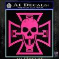 Iron Cross Motor Head Skull Decal Sticker Pink Hot Vinyl 120x120