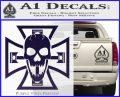 Iron Cross Motor Head Skull Decal Sticker PurpleEmblem Logo 120x97