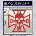 Iron Cross Motor Head Skull Decal Sticker Red 120x120