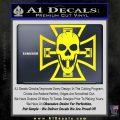Iron Cross Motor Head Skull Decal Sticker Yellow Laptop 120x120
