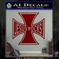 Jesus Rocks Iron Cross Decal Sticker DRD Vinyl 120x120