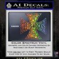 Jesus Rocks Iron Cross Decal Sticker Glitter Sparkle 120x120