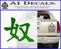 Kanji – Slave Decal Sticker Green Vinyl Logo 120x97