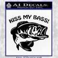 Kiss My Bass Decal Sticker Black Vinyl 120x120