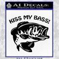 Kiss My Bass Decal Sticker Black Vinyl 120x120