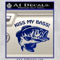 Kiss My Bass Decal Sticker Blue Vinyl 120x120