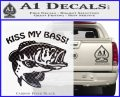 Kiss My Bass Decal Sticker Carbon FIber Black Vinyl 120x97