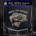 Kiss My Bass Decal Sticker Carbon FIber Chrome Vinyl 120x120