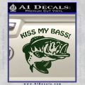 Kiss My Bass Decal Sticker Dark Green Vinyl 120x120