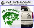 Kiss My Bass Decal Sticker Green Vinyl Logo 120x97