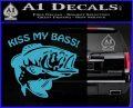 Kiss My Bass Decal Sticker Light Blue Vinyl 120x97
