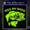 Kiss My Bass Decal Sticker Lime Green Vinyl 120x120