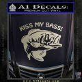 Kiss My Bass Decal Sticker Metallic Silver Emblem 120x120