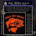 Kiss My Bass Decal Sticker Orange Emblem 120x120