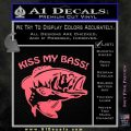 Kiss My Bass Decal Sticker Pink Emblem 120x120
