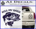 Kiss My Bass Decal Sticker PurpleEmblem Logo 120x97